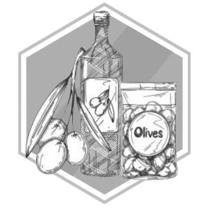 Griekse olijfolie en olijven